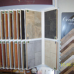 Showroom tile samples