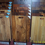 Showroom wood samples