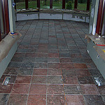Radiant heat under slate tile