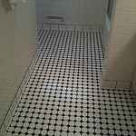 Black and white mosaics with ceramic base